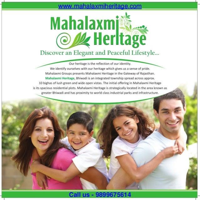 www.mahalaxmiheritage.comwww.mahalaxmiheritage.com Call us - 9899675614