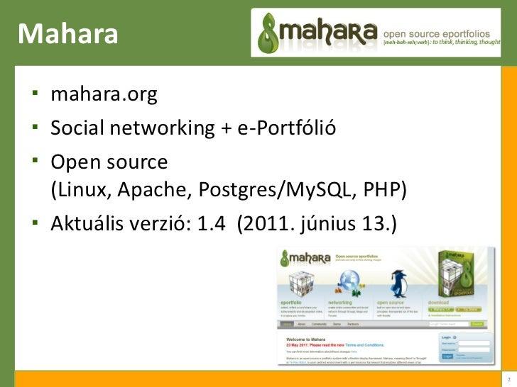 Mahara 1.4 Slide 2