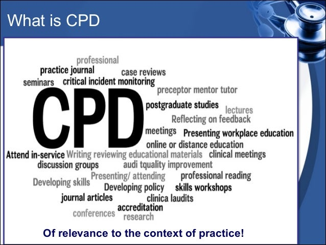 cpd in nursing Free and reduced online cpd courses members of the nswnma, who are automatically members of the australian nursing and midwifery federation, can access courses on the anmf cpd website for a much reduced rate of $770 per topic, compared to $30 for non-members.