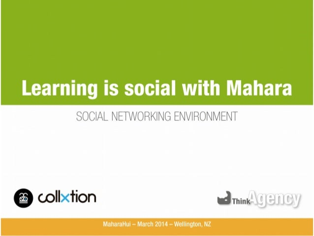 Learning is social with Mahara SOCIAL NETWORKING ENVIRONMENT  oollxtion arninxflfijlalfl y