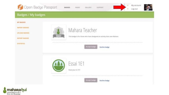 How to get all the issuing features directly in Mahara ?