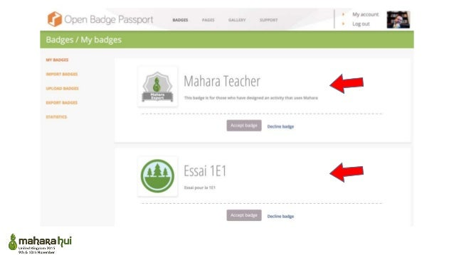Open Badge Factory in Mahara Creating, issuing and displaying OpenBadges within Mahara