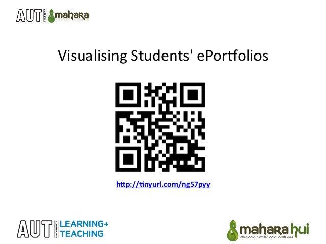 "Visualising  Students'  ePor2olios   h""p://&nyurl.com/ng57pyy"