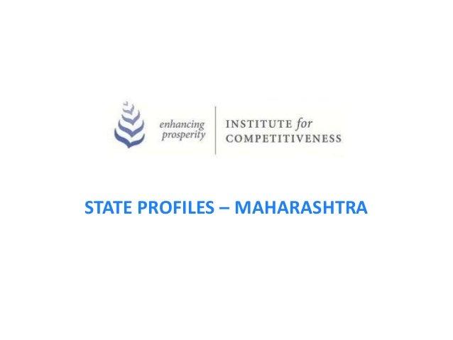STATE PROFILES – MAHARASHTRA