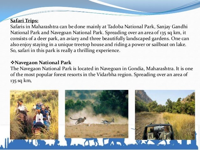 Doba National Park Tadoba National Park spreads over 120 sq km, which is at an altitude of 200m. It is located 100 km sou...