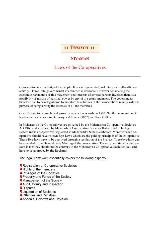 Apartment Management Maharashtra Co Operative Societies Act 1960