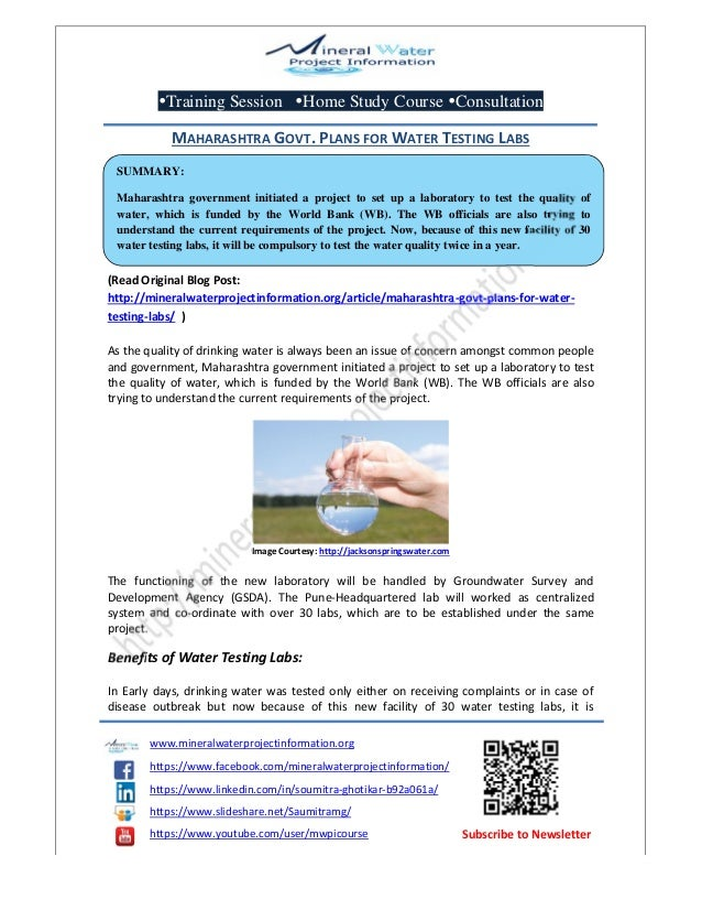Training Session Home Study Course Consultation www.mineralwaterprojectinformation.org https://www.facebook.com/mineral...