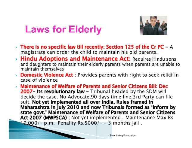 rights of senior citizens In this blogpost, sreerajkv, student, government law college, kerala writes about the rights of senior citizens in india introduction it is a natural law that if we are born once, we will have to leave this earth one day.