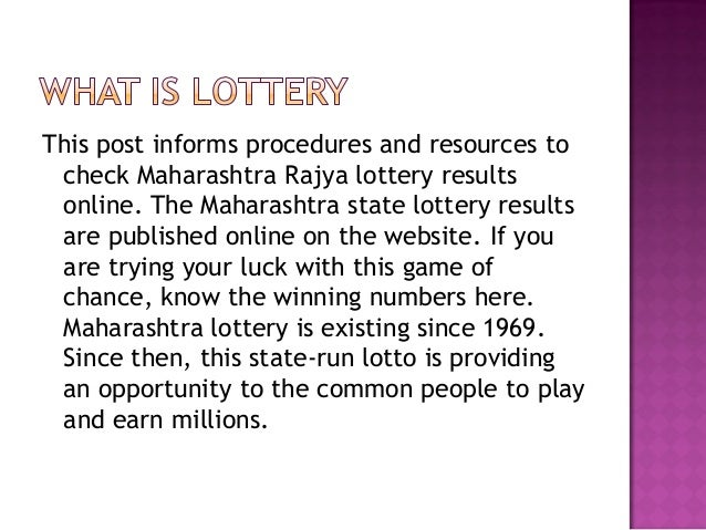 Maharashtra state lottery result