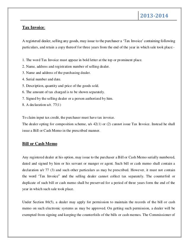 A report on value added tax