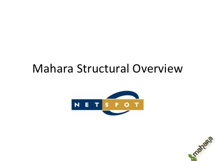 Mahara Structural Overview