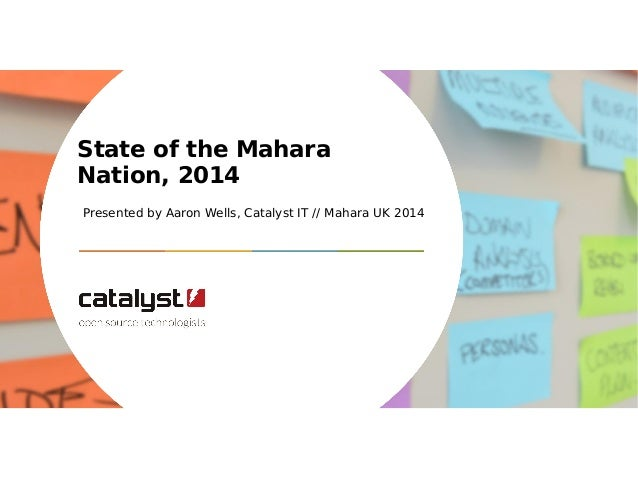 State of the Mahara  Nation, 2014  Presented by Aaron Wells, Catalyst IT // Mahara UK 2014