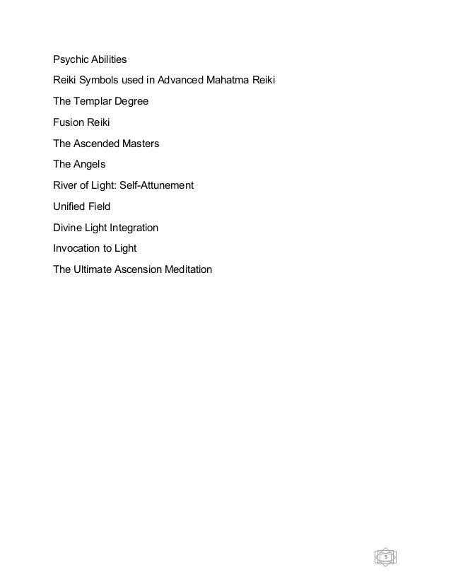 Mahatma Ascension Advanced Mahatma Reiki Healing