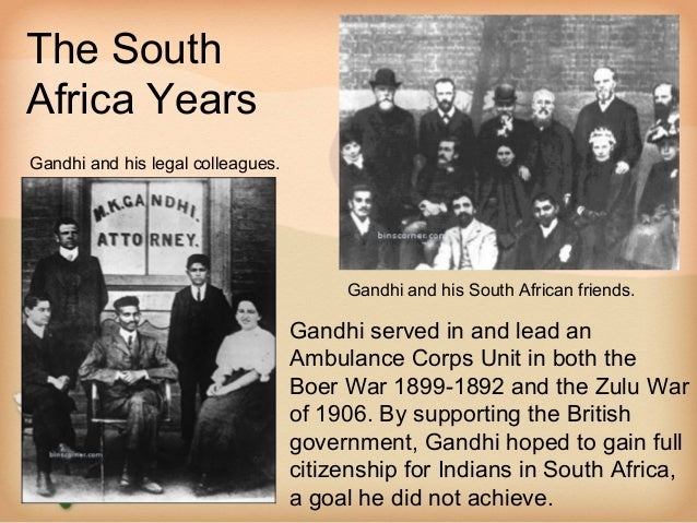 The SouthAfrica YearsGandhi and his legal colleagues.                                        Gandhi and his South African ...