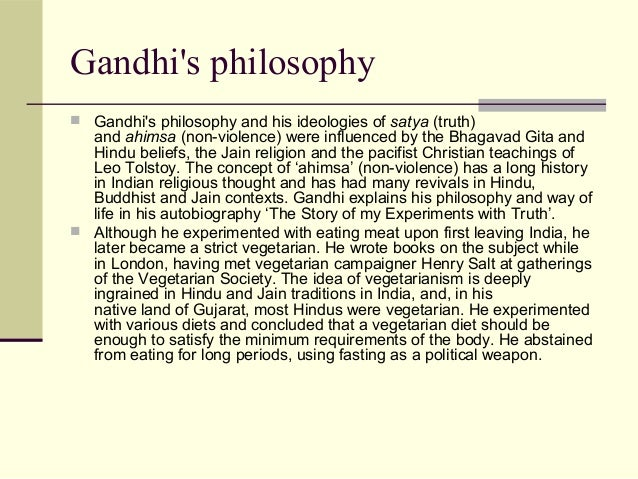 gandhis philosophy of non violence essay Q : why did the british leave india does gandhi's non-violence philosophy has anything to do with it a : i take your second question first you are, say a landlord.