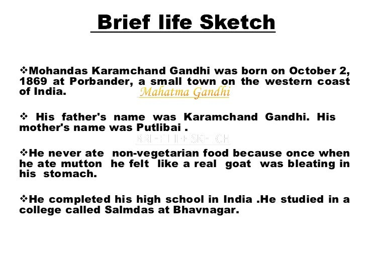 contribution of mahatma gandhi in short