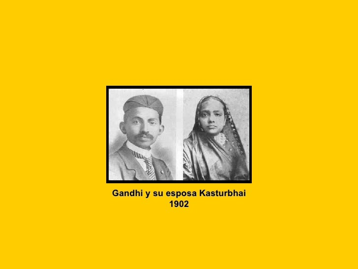 Gandhi y su esposa Kasturbhai 1902