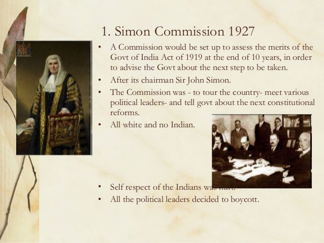 Simon Commission and Nehru Report