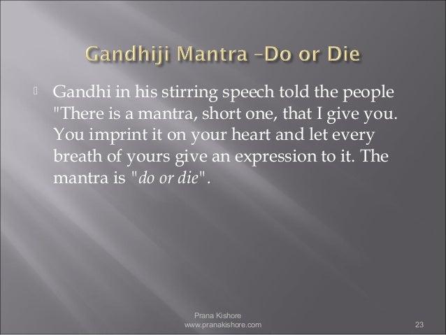 is mahatma gandhi an incarnation   23  gandhi in his stirring speech