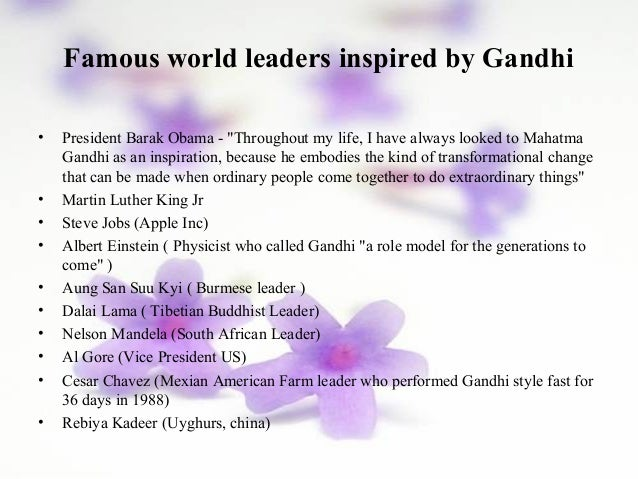 qualities of mahatma gandhi