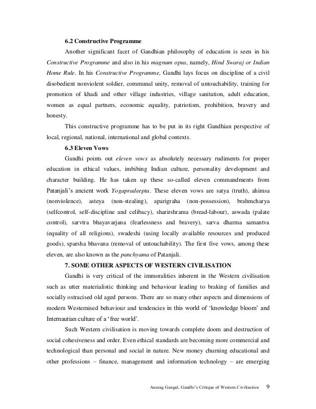 gandhis intent with hind swaraj essay This one-page guide includes a plot summary and brief analysis of hind swaraj by mahatma gandhi hind swaraj hind swaraj summary and essay topics.