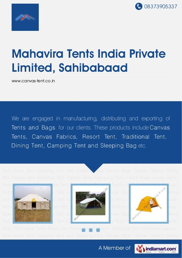 08373905337A Member ofMahavira Tents India PrivateLimited, Sahibabaadwww.canvas-tent.co.inCanvas Tents Army Tent Camping T...