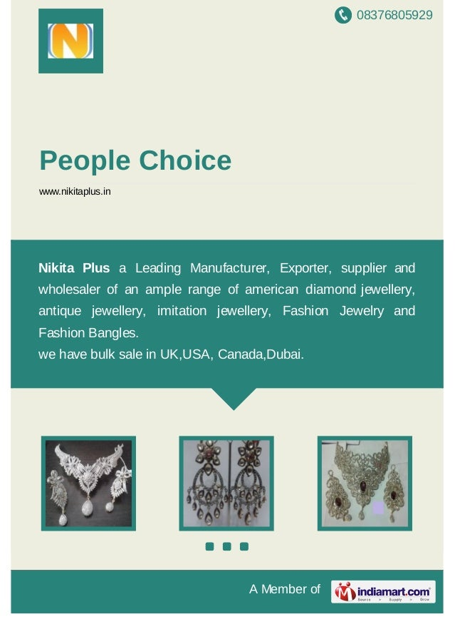 08376805929 A Member of People Choice www.nikitaplus.in Nikita Plus a Leading Manufacturer, Exporter, supplier and wholesa...