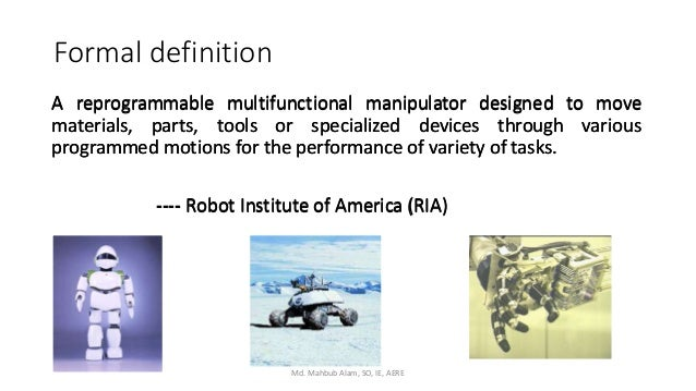 Introduction to Robotics and Future of Robotics in