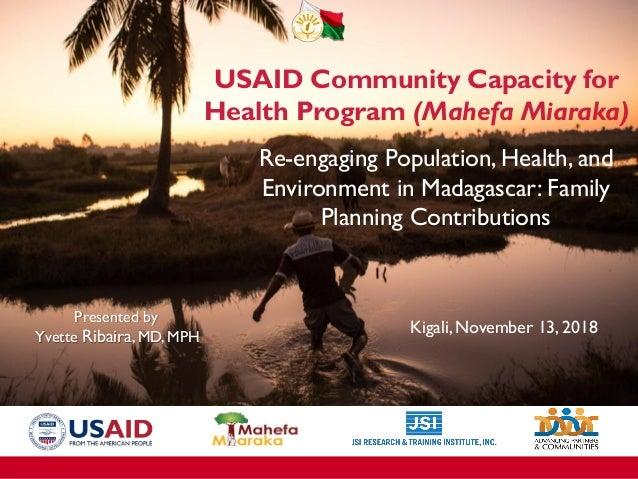 Se réengager dans la santé population environnement à Madagascar: quelles contributions de la planification familiale Prés...