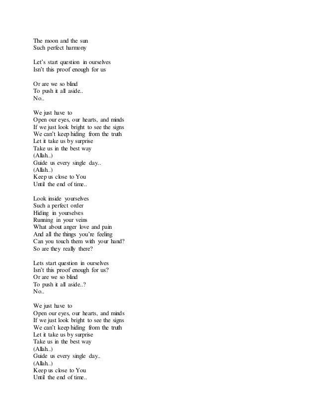 Lyric open our eyes lord lyrics : Maher zain