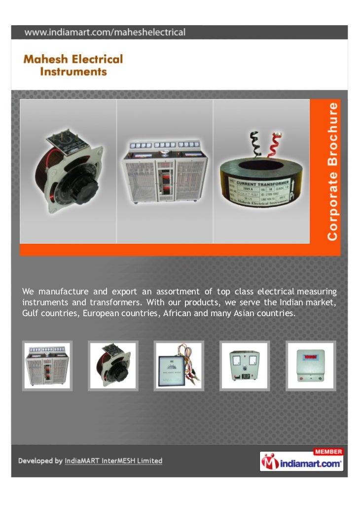 Electrical Measuring Instruments Market : Mahesh electrical instruments mumbai