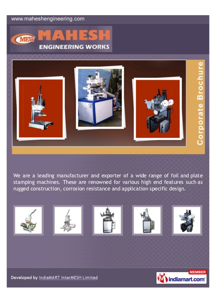 We are a leading manufacturer and exporter of a wide range of foil and platestamping machines. These are renowned for vari...