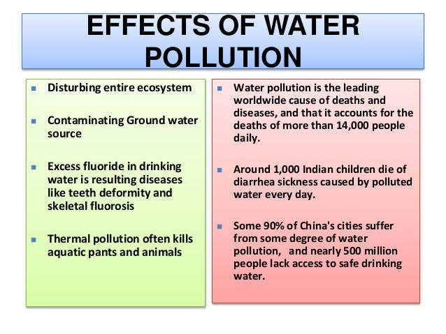 water pollution causes and effects pdf