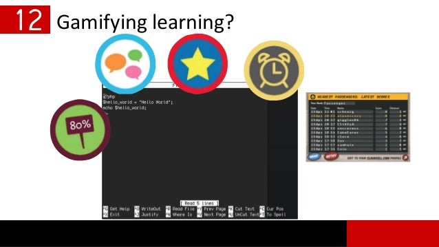 Gamifying learning?12