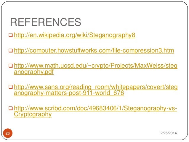 Steganography research papers 2014