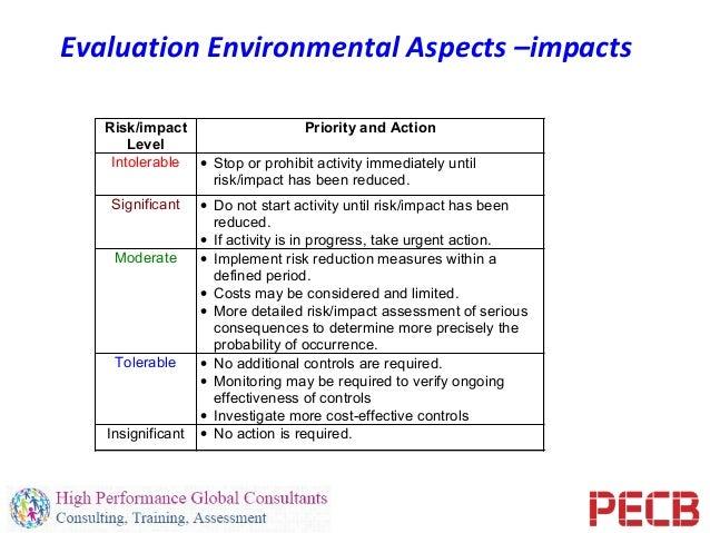 Pecb webinar identification of environmental aspects and for Environmental aspects register template
