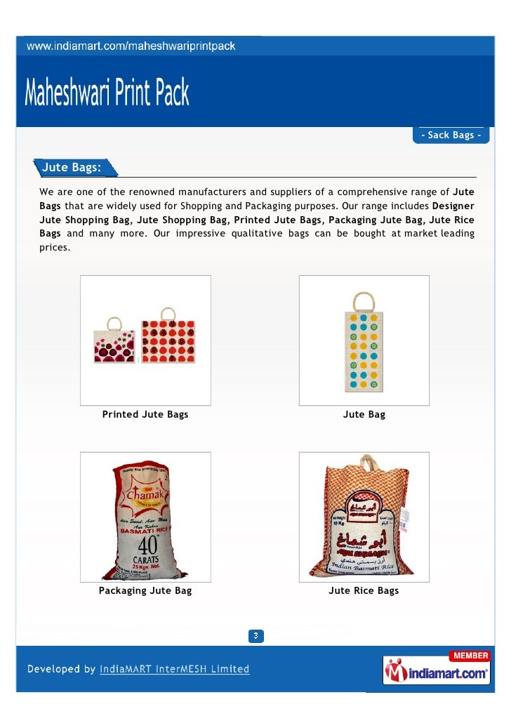 Maheshwari Print Pack, New Delhi, Jute Bag Slide 3