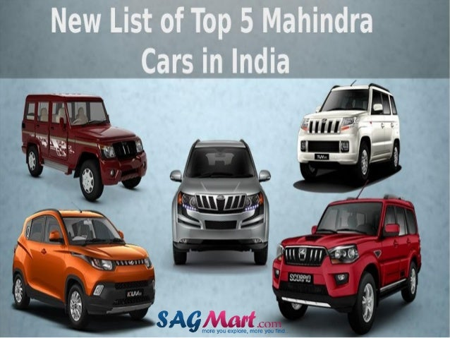 Get List Of Mahindra Cars In India