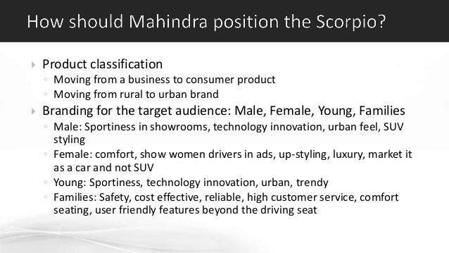 Mahindra Case Study Creating The Scorpio