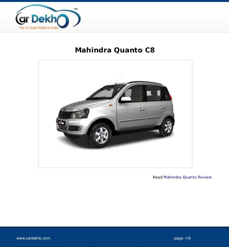 Mahindra Quanto C8                                    Read Mahindra Quanto Reviewwww.cardekho.com                         ...