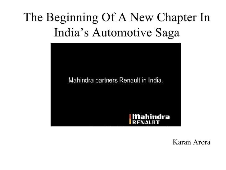 The Beginning Of A New Chapter In India's Automotive Saga Karan Arora