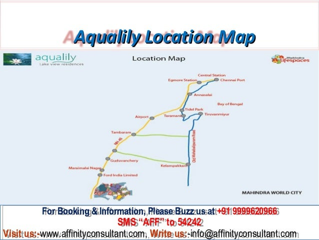 Mahindra lifespaces world city aqualily chennai 3 aqualily location map gumiabroncs Gallery
