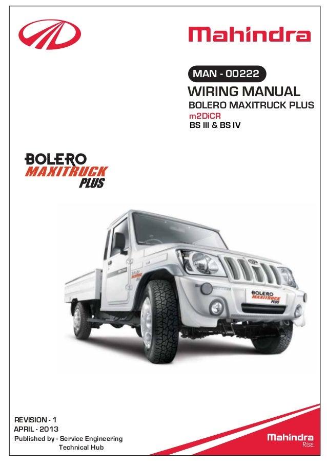mahindra bolero wiring rh slideshare net