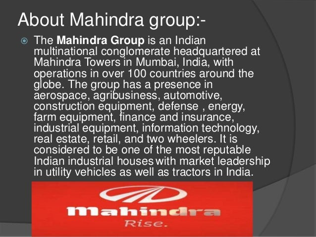 swot analysis of mahindra and mahindra Mahindra and mahindra in south africa - report 2 table of contents: overview of mahindra and mahindra mahindra and mahindra business model mahindra and mahindra in south africa south african automotive industry swot analysis: pest analysis issues for mahindra questions.