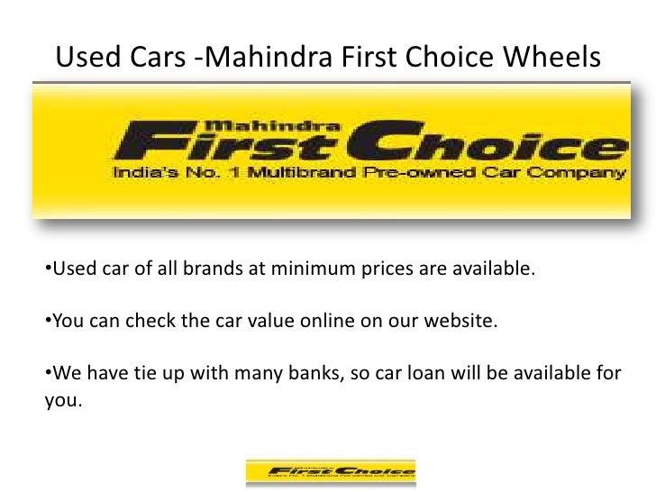 Used Cars Dealership Mahindra First Choice Wheels