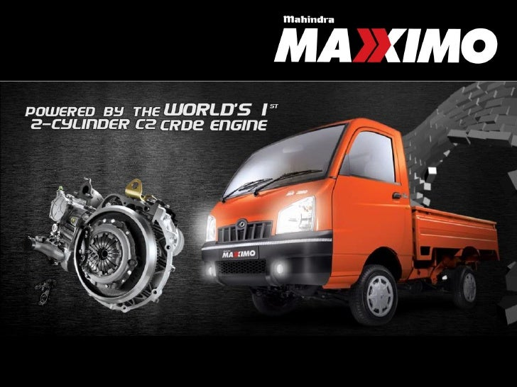 Mahindra Maxximo Information Specifications Images