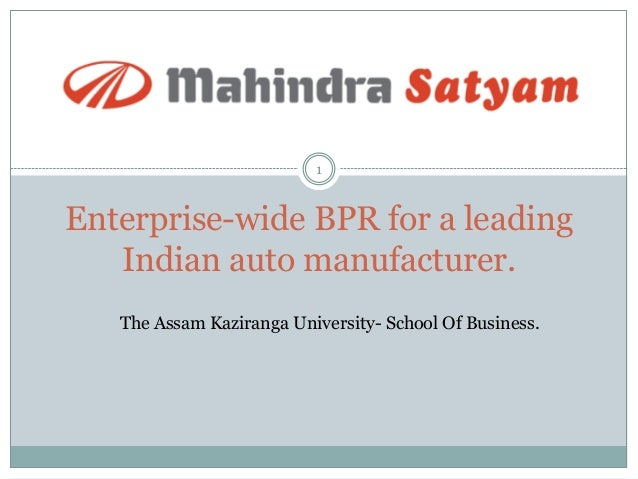 case study of mahindra & mahindra implementing bpr