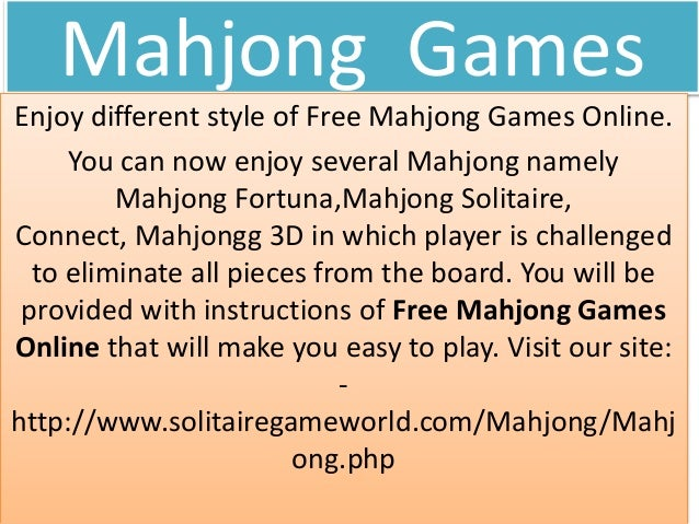 1 Enjoy Different Online Games Including Mahjong Games At Solitaireg
