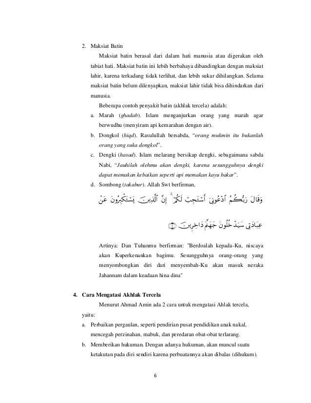 Mahmudah Dan Madzmumah Nur Rachmaniar