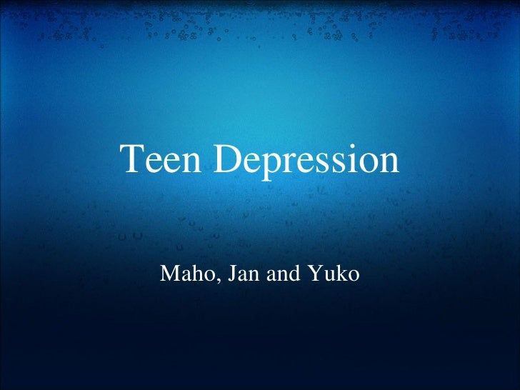 Teen Depression Maho, Jan and Yuko